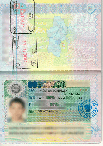 Польская виза
